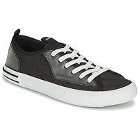 Sapatos Homem Sapatilhas Guess NETTUNO LOW Preto / Cinza