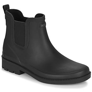 Sapatos Mulher Botas de borracha Aigle CARVILLE Preto