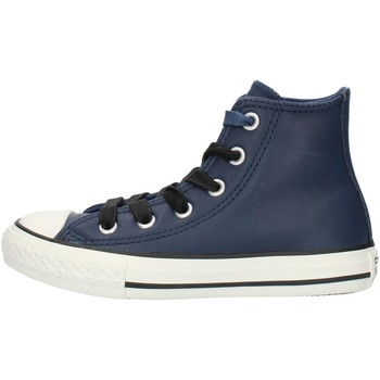 Sapatos Rapaz Sapatilhas de cano-alto Converse 662809C Azul