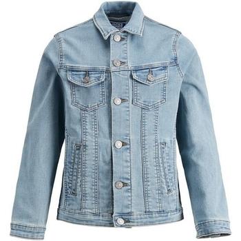 Textil Rapaz casacos de ganga Jack & Jones 12149371 JJIALVIN JJACKET CR 045 IK JR BLUE DENIM Azul