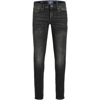 Textil Rapaz Calças de ganga slim Jack & Jones 12149936 JJILIAM JJORIGINAL AM 830 JR NOOS BLACK DENIM Negro