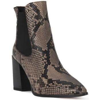 Sapatos Mulher Botins Café Noir CAFE NOIR  TRONCHETTO PITONE Nero