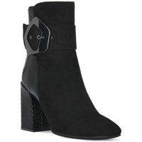 Sapatos Mulher Botins Café Noir CAFE NOIR  TRONCHETTO FIBBIA Nero