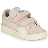 Sapatos Rapariga Sapatilhas Puma SUEDE Rosa