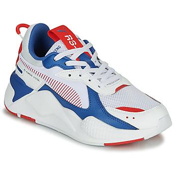 Sapatos Criança Sapatilhas Puma RS-X Branco / Azul / Vermelho