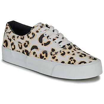 Sapatos Mulher Sapatilhas Superdry CLASSIC LACE UP TRAINER Leopardo