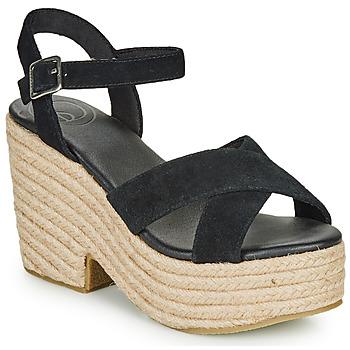 Sapatos Mulher Sandálias Superdry HIGH ESPADRILLE SANDAL Preto