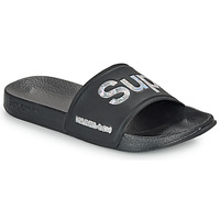 Sapatos Mulher chinelos Superdry HOLO INFIL POOL SLIDE Preto