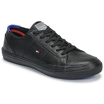 Sapatos Homem Sapatilhas Tommy Hilfiger CORE CORPORATE FLAG SNEAKER Preto
