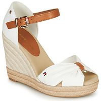 Sapatos Mulher Sandálias Tommy Hilfiger BASIC OPENED TOE HIGH WEDGE Branco