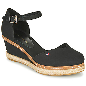 Sapatos Mulher Sandálias Tommy Hilfiger BASIC CLOSED TOE MID WEDGE Preto