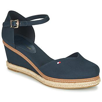 Sapatos Mulher Sandálias Tommy Hilfiger BASIC CLOSED TOE MID WEDGE Azul