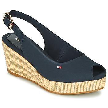 Sapatos Mulher Sandálias Tommy Hilfiger ICONIC ELBA SLING BACK WEDGE Azul