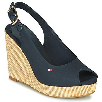 Sapatos Mulher Sandálias Tommy Hilfiger ICONIC ELENA SLING BACK WEDGE Azul
