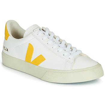 Sapatos Mulher Sapatilhas Veja CAMPO Branco / Amarelo