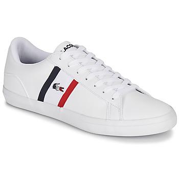 Sapatos Homem Sapatilhas Lacoste LEROND TRI1 CMA Branco / Azul / Vermelho