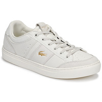 Sapatos Mulher Sapatilhas Lacoste COURTLINE 120 1 US CFA Branco / Ouro