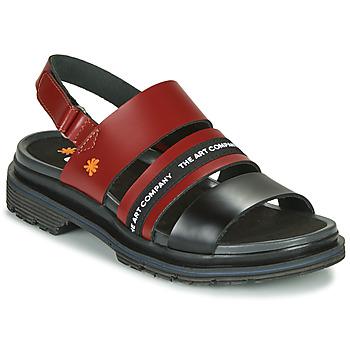 Sapatos Mulher Sandálias Art BIRMINGHAM Bordô / Preto