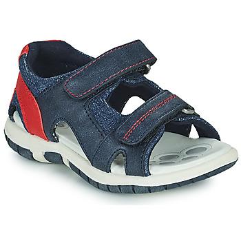Sapatos Rapaz Sandálias desportivas Chicco FLORIAN Marinho / Vermelho
