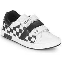 Sapatos Rapaz Sapatilhas Chicco CANDITO Branco / Preto