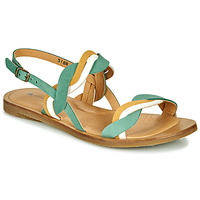 Sapatos Mulher Sandálias El Naturalista TULIP Verde / Amarelo / Branco
