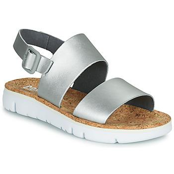 Sapatos Mulher Sandálias Camper ORUGA Prateado
