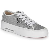 Sapatos Mulher Sapatilhas Emporio Armani X3X109-XL487 Prata