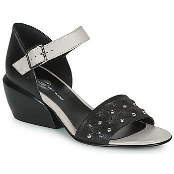 Sapatos Mulher Sandálias Fru.it LEMMINE Preto / Branco