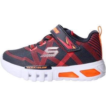Sapatos Rapaz Sapatilhas Skechers - Flex glow blu 90542N NVRD BLU