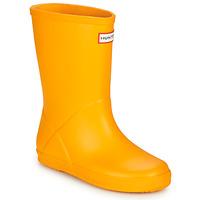 Sapatos Criança Botas de borracha Hunter KIDS FIRST CLASSIC Amarelo