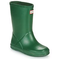 Sapatos Criança Botas de borracha Hunter KIDS FIRST CLASSIC Verde