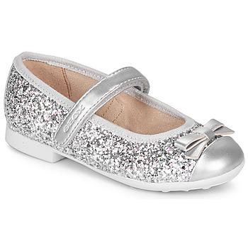 Sapatos Rapariga Sabrinas Geox JR PLIE' Prata