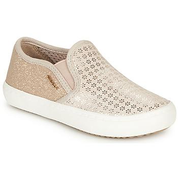 Sapatos Rapariga Slip on Geox J KILWI GIRL Bege