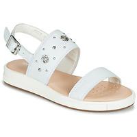 Sapatos Rapariga Sandálias Geox J SANDAL REBECCA GIR Branco