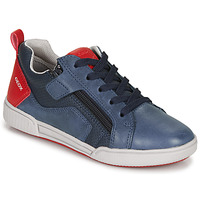 Sapatos Rapaz Sapatilhas Geox J POSEIDO BOY Marinho / Vermelho