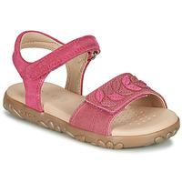 Sapatos Rapariga Sandálias Geox J SANDAL HAITI GIRL Rosa fúchia