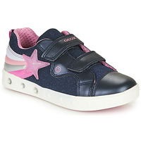 Sapatos Rapariga Sapatilhas Geox J SKYLIN GIRL Marinho / Rosa