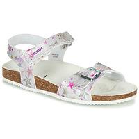 Sapatos Rapariga Sandálias Geox J ADRIEL GIRL Prata