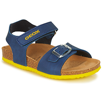 Sapatos Rapaz Sandálias Geox GHITA BOY Azul / Amarelo