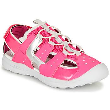 Sapatos Rapariga Sandálias desportivas Geox J VANIETT GIRL Rosa / Prata