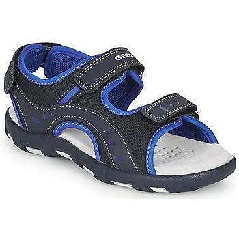 Sapatos Rapaz Sandálias desportivas Geox JR SANDAL PIANETA Marinho