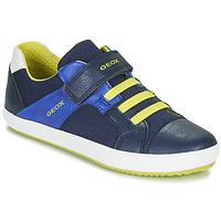 Sapatos Rapaz Sapatilhas Geox J GISLI BOY Marinho / Amarelo