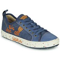 Sapatos Rapaz Sapatilhas Geox J ALONISSO BOY Azul / Castanho