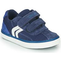 Sapatos Rapaz Sapatilhas Geox B KILWI BOY Azul / Branco