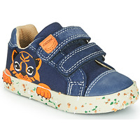 Sapatos Rapaz Sapatilhas Geox B KILWI BOY Marinho / Castanho