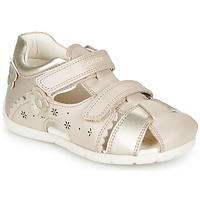 Sapatos Rapariga Sandálias Geox B KAYTAN Ouro / Bege