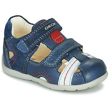 Sapatos Rapaz Sandálias Geox B KAYTAN Azul / Branco / Vermelho