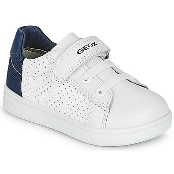 Sapatos Rapaz Sapatilhas Geox B DJROCK BOY Branco / Azul