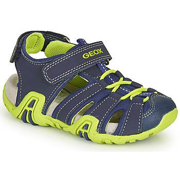 Sapatos Rapaz Sandálias desportivas Geox B SANDAL KRAZE Marinho / Verde