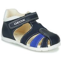 Sapatos Rapaz Sandálias Geox B ELTHAN BOY Marinho / Branco